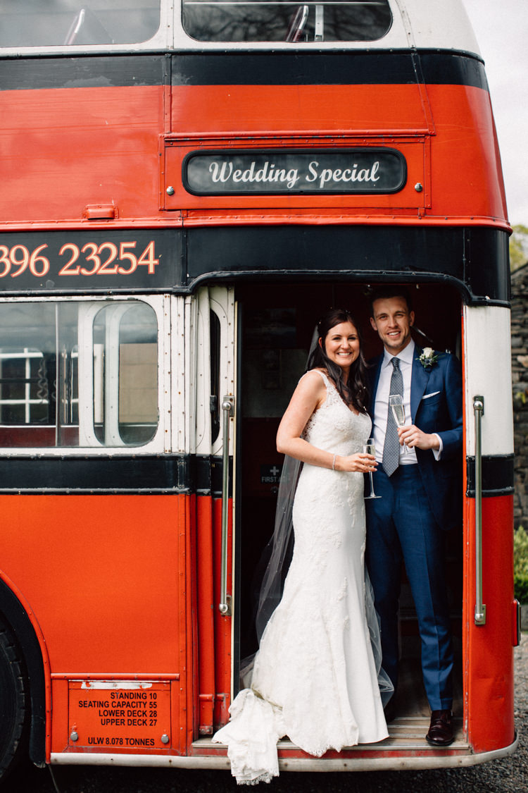 Vintage Bus Transport Delightfully Stylish Spring Wedding in the Lake District http://jamiedunnphotography.com/
