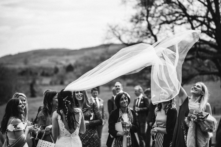 Veil Bride Bridal Delightfully Stylish Spring Wedding in the Lake District http://jamiedunnphotography.com/