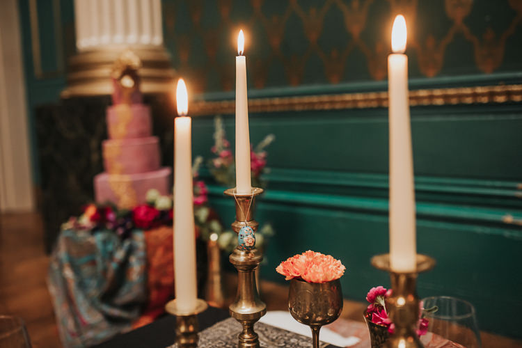Candles Modern Jewel Tone Asian Fusion Wedding Ideas http://liannegrayphotography.com/