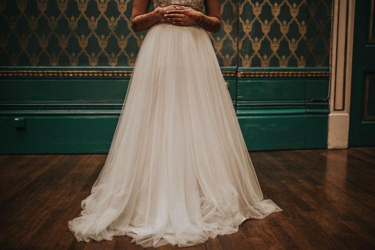 Tulle Skirt Dress Gown Bride Bridal Modern Jewel Tone Asian Fusion Wedding Ideas http://liannegrayphotography.com/