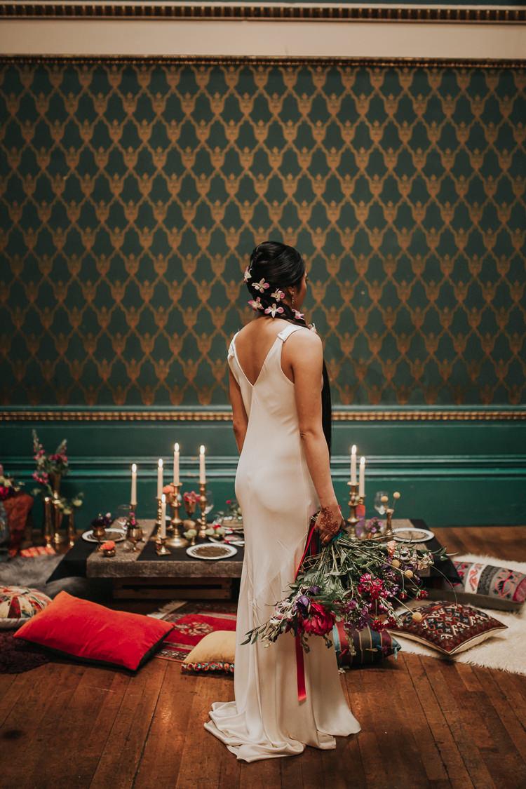 Silk Dress Gown Bride Bridal Modern Jewel Tone Asian Fusion Wedding Ideas http://liannegrayphotography.com/