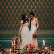 Modern Jewel Tone Asian Fusion Wedding Ideas