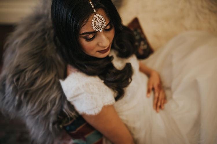 Tikki Headpiece Bride Bridal Accessory Modern Jewel Tone Asian Fusion Wedding Ideas http://liannegrayphotography.com/
