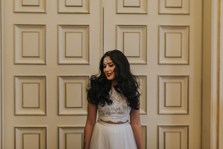 Bride Bridal Separates Skirt Top Lace Tulle Modern Jewel Tone Asian Fusion Wedding Ideas http://liannegrayphotography.com/