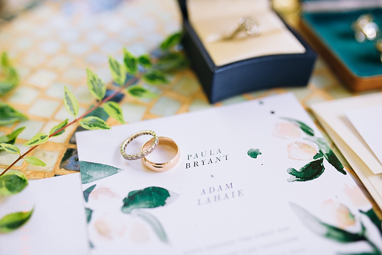 Rings Bohemian Outdoor Greenery Wedding Georgia http://www.sowingclover.com/