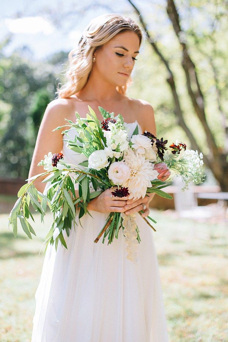 Bride Bouquet Bohemian Outdoor Greenery Wedding Georgia http://www.sowingclover.com/