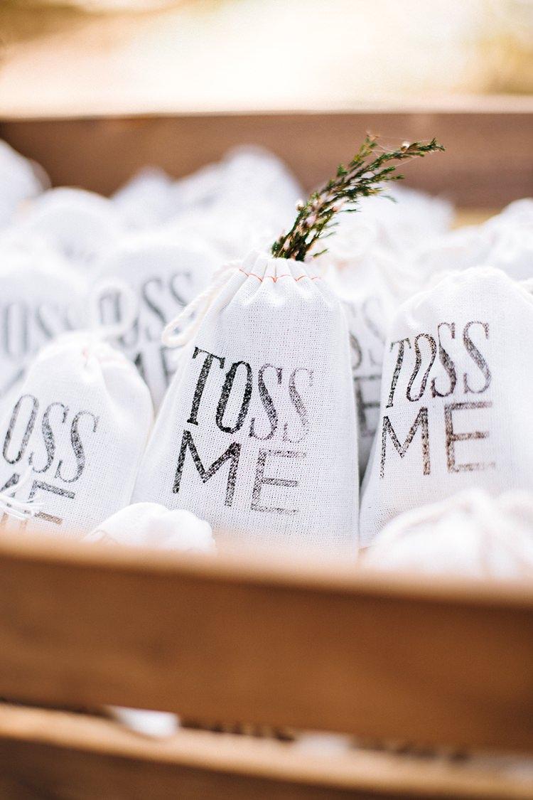 Confetti Bags Bohemian Outdoor Greenery Wedding Georgia http://www.sowingclover.com/