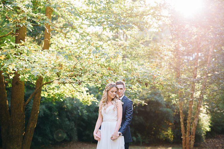 Bride Groom Close Trees Bohemian Outdoor Greenery Wedding Georgia http://www.sowingclover.com/