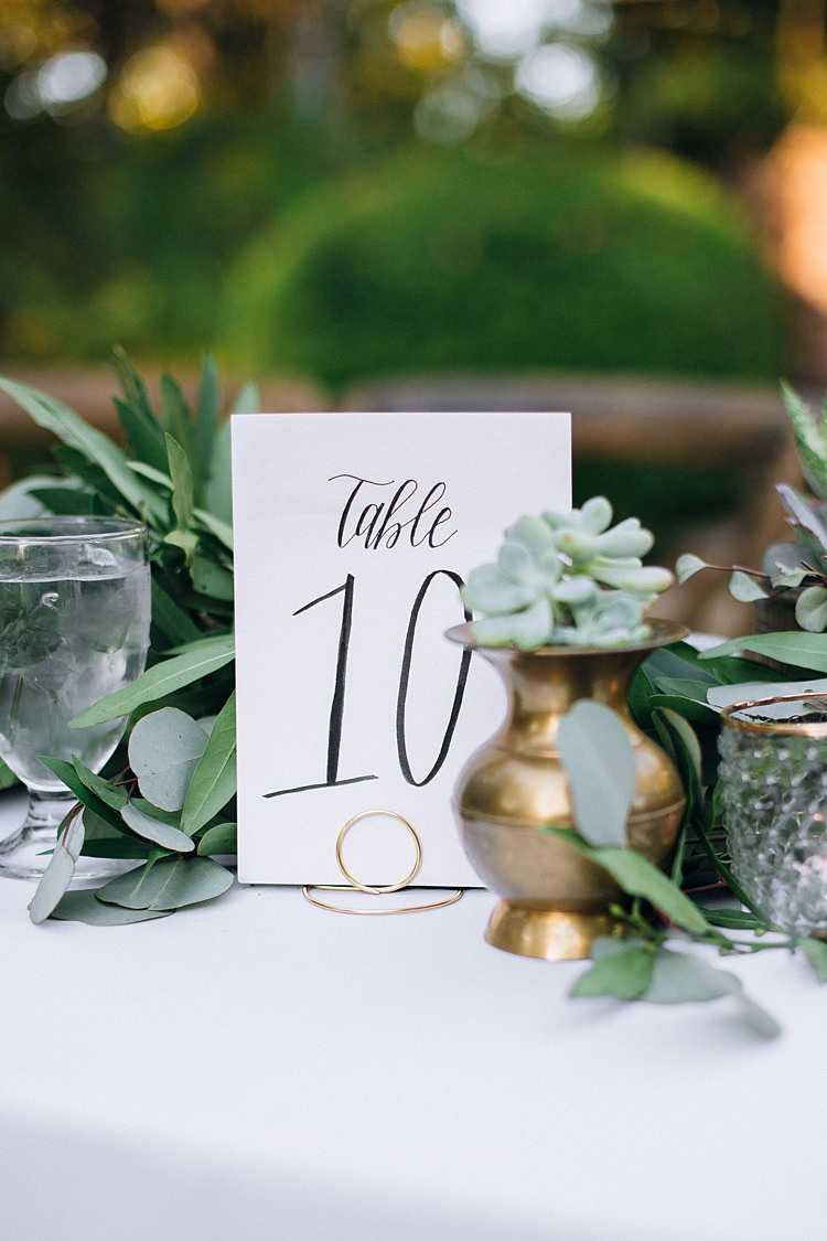 Table Numbers Bohemian Outdoor Greenery Wedding Georgia http://www.sowingclover.com/