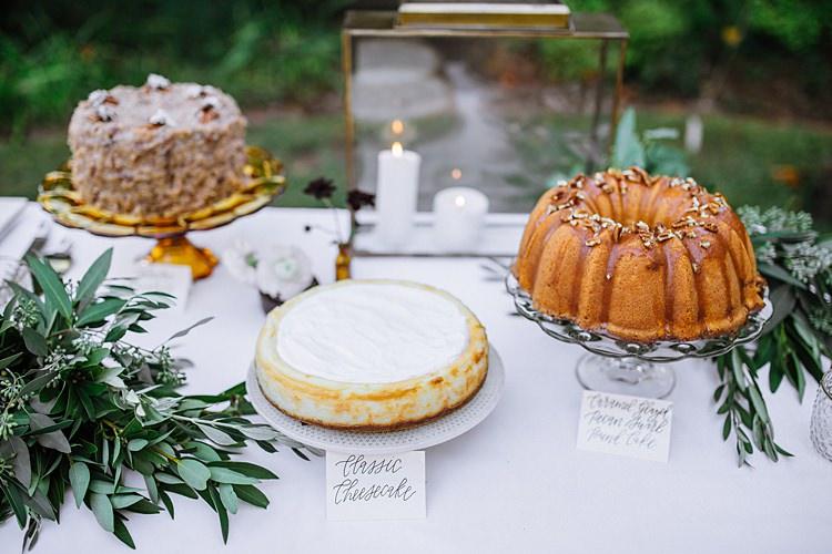 Dessert Table Bohemian Outdoor Greenery Wedding Georgia http://www.sowingclover.com/