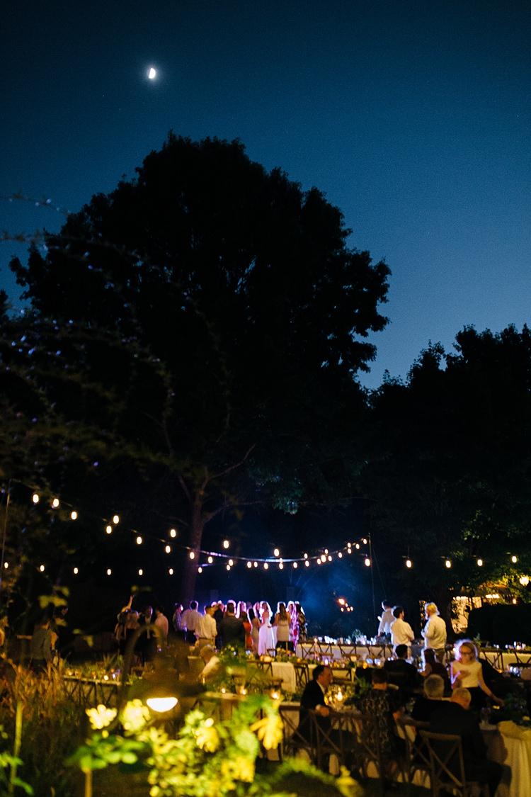 Night Party Dancing Festoon Lighting Bohemian Outdoor Greenery Wedding Georgia http://www.sowingclover.com/