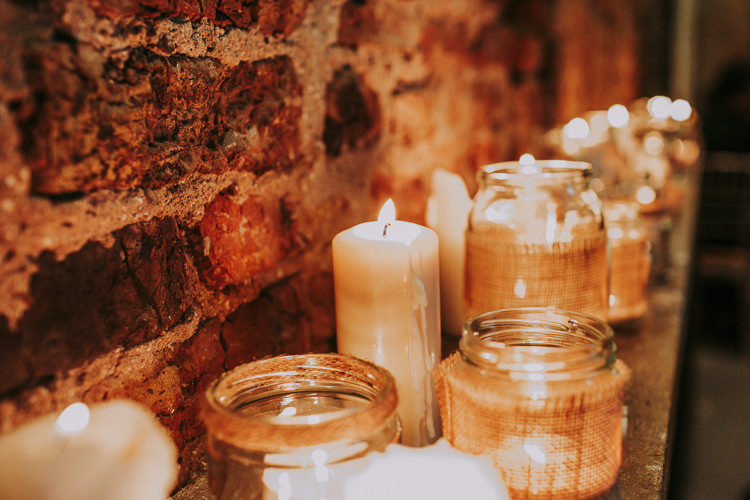 Ceremony Candles Rustic Charm Contemporary Pastel Barn Wedding http://www.bloomweddings.co.uk/