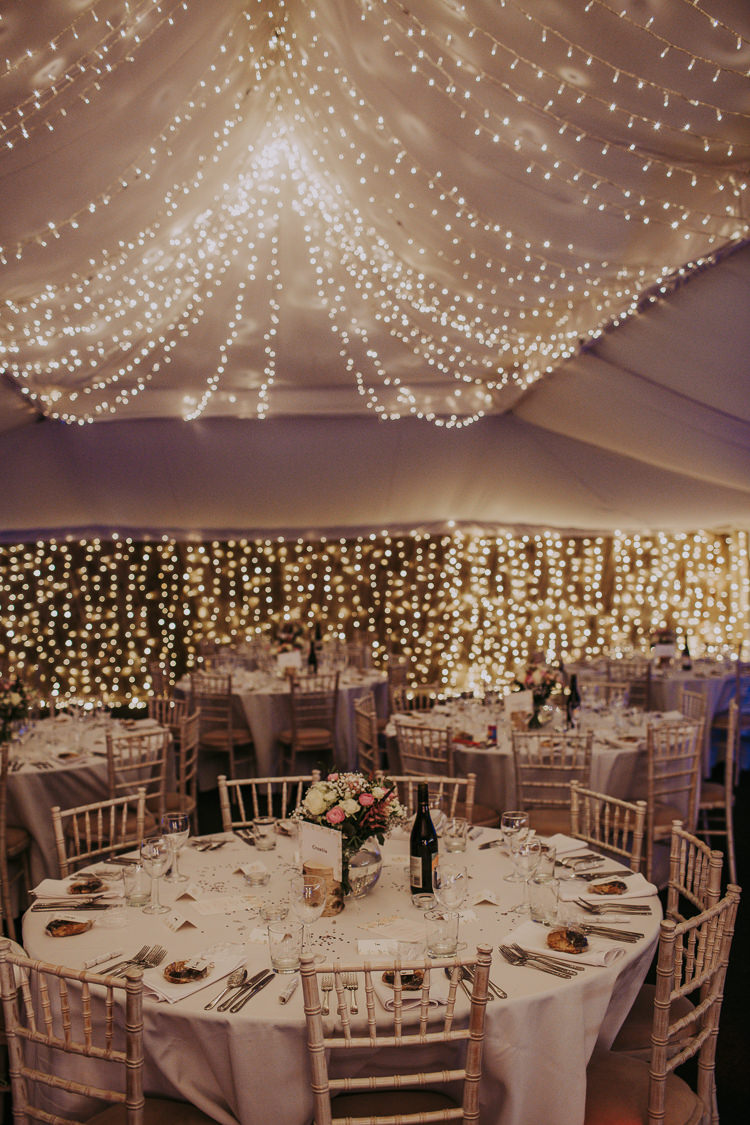 Marquee Fairy Lights Rustic Charm Contemporary Pastel Barn Wedding http://www.bloomweddings.co.uk/