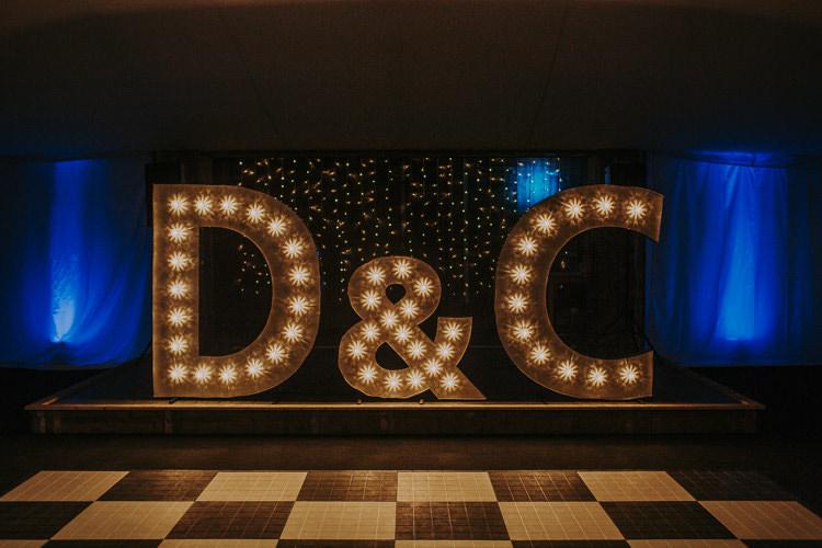Light Letters Decor Rustic Charm Contemporary Pastel Barn Wedding http://www.bloomweddings.co.uk/