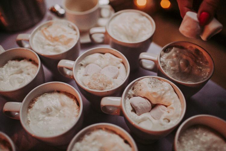Hot Chocolate Drinks Rustic Charm Contemporary Pastel Barn Wedding http://www.bloomweddings.co.uk/