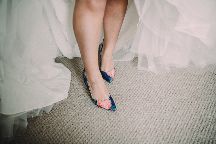 Floral Shoes Bride Bridal Heels Woodland Lavender Spring Country Wedding http://www.carlablainphotography.co.uk/