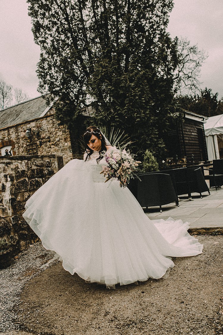 Lace Tulle Dress Gown Bride Bridal Woodland Lavender Spring Country Wedding http://www.carlablainphotography.co.uk/