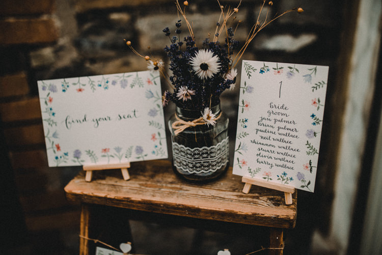Ladder Seating Chart Woodland Lavender Spring Country Wedding http://www.carlablainphotography.co.uk/