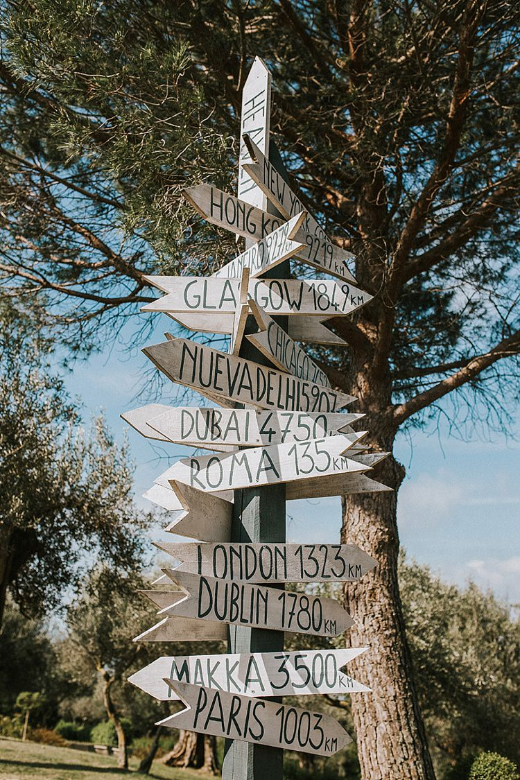 Wooden Sign Post Places Destination Italy Wedding Burgundy http://www.brookrosephotography.co.uk/