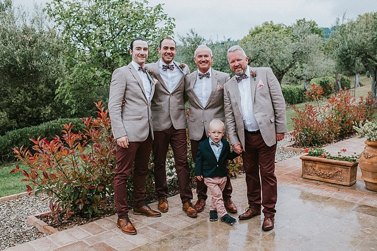 Bow Ties Chinos Groom Groomsmen Style Outfits Destination Italy Wedding Burgundy http://www.brookrosephotography.co.uk/