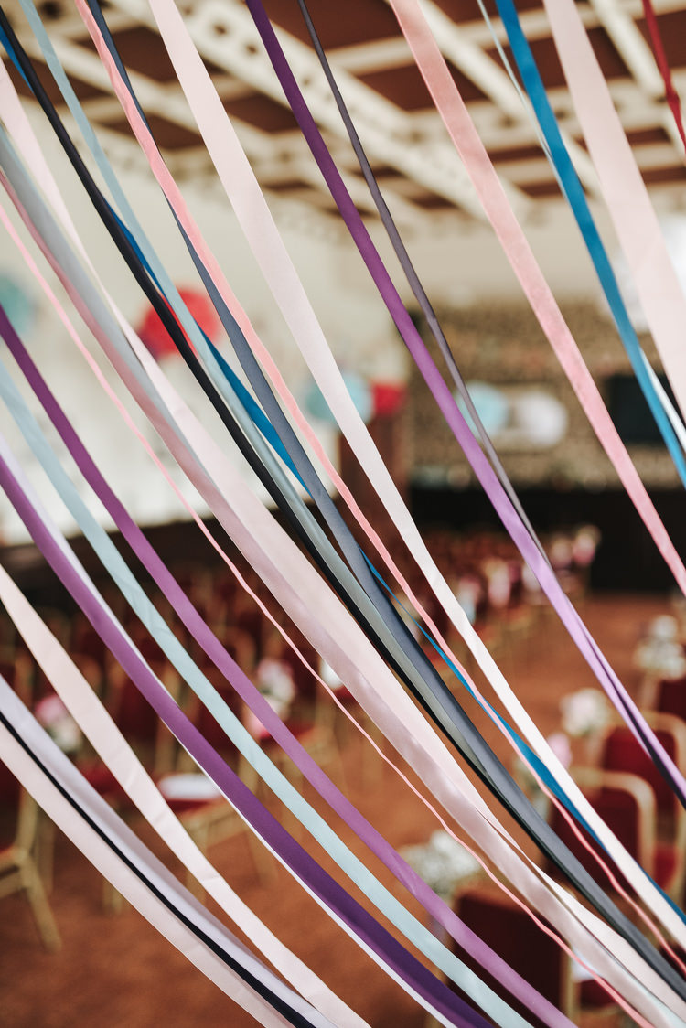 Ribbon Curtain Backdrop Crafty Fun Budget Friendly Wedding https://www.pearbearphotography.com/