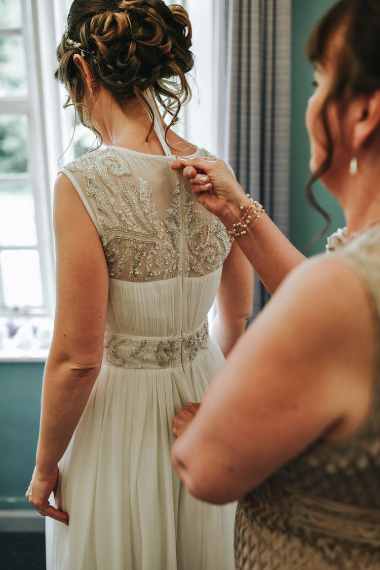 Beaded Sheer Illusion Back Dress Gown Bride Bridal Crafty Fun Budget Friendly Wedding https://www.pearbearphotography.com/