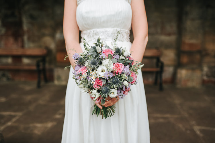 Rose Thistle Bouquet Flowers Bride Bridal Crafty Fun Budget Friendly Wedding https://www.pearbearphotography.com/