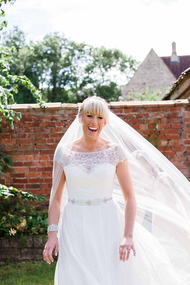 Bridal Bride Veil Cathedral Graceful Walled Garden Wedding http://helenkingphotography.co.uk/