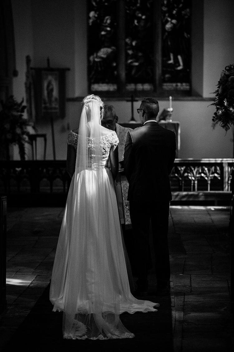 Church Ceremony Graceful Walled Garden Wedding http://helenkingphotography.co.uk/