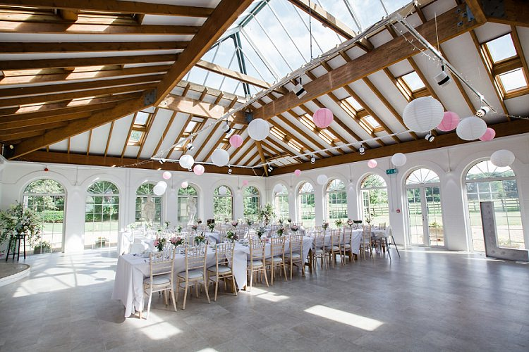 Pink White Lanterns Irnham Hall Long Tables Graceful Walled Garden Wedding http://helenkingphotography.co.uk/