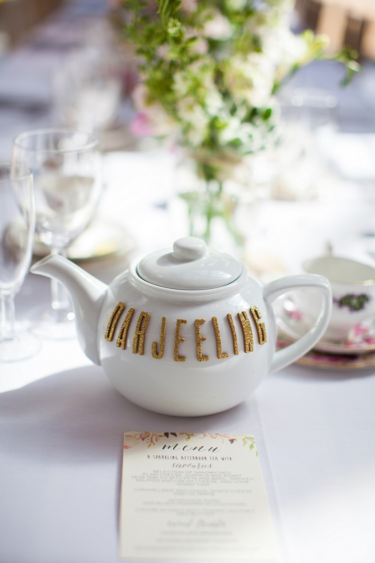 Tea Pot Table Names Tea Graceful Walled Garden Wedding http://helenkingphotography.co.uk/
