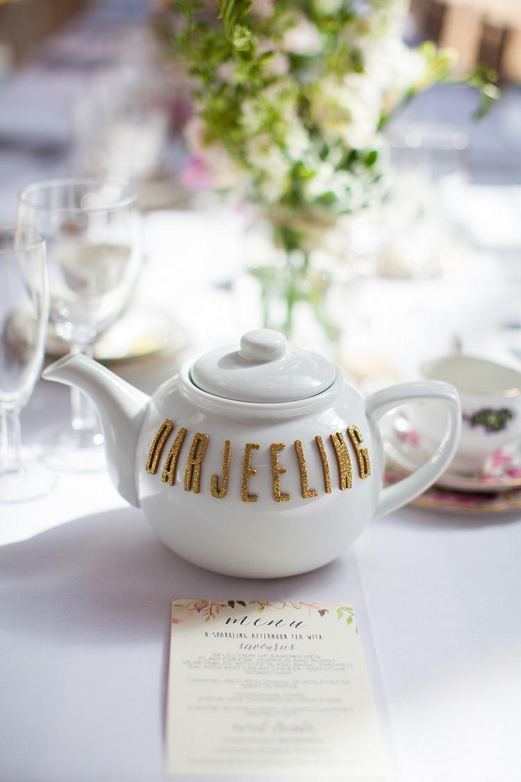 Tea Pot Table Names Tea Graceful Walled Garden Wedding http://helenkingphotography.co.uk/