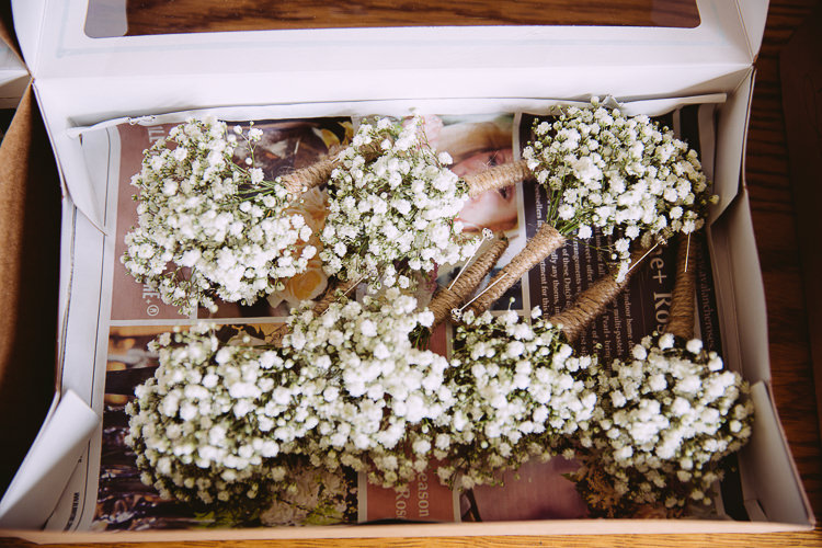Gyp Gypsophila Baby Breath Buttonholes Romantic Soft Pastel Pretty Wedding http://hayleybaxterphotography.com/