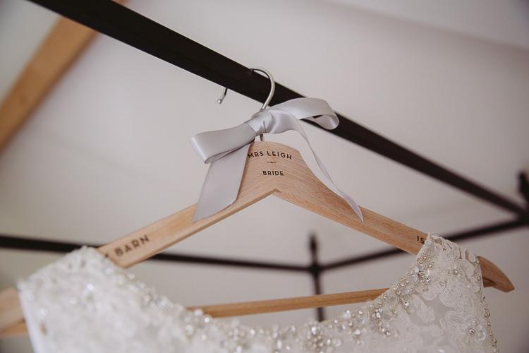 Custom Hanger Wooden Dress Bride Bridal Romantic Soft Pastel Pretty Wedding http://hayleybaxterphotography.com/
