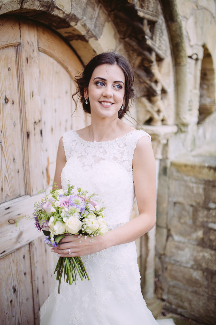 Lace Dress Gown Bride Bridal Straps Romantic Soft Pastel Pretty Wedding http://hayleybaxterphotography.com/