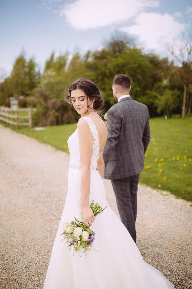 Low Back Lace Buttons Dress Gown Bride Bridal Romantic Soft Pastel Pretty Wedding http://hayleybaxterphotography.com/