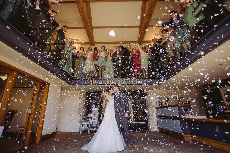 Confetti Throw Romantic Soft Pastel Pretty Wedding http://hayleybaxterphotography.com/