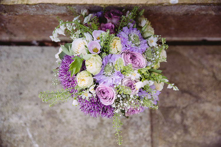 Bouquet Purple Lilac Green Cream Flowers Rose Bride Bridal Romantic Soft Pastel Pretty Wedding http://hayleybaxterphotography.com/