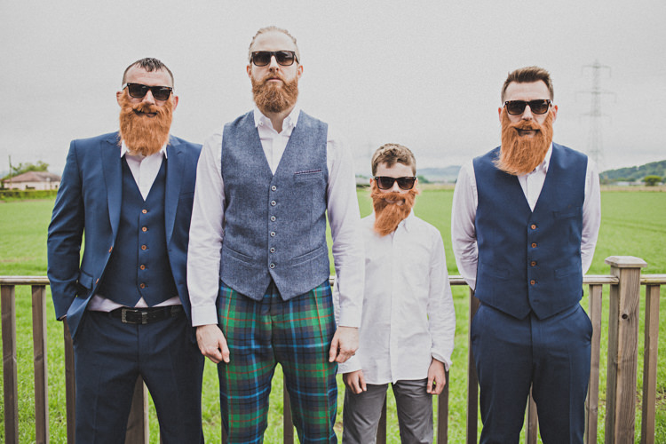 Groom Groomsmen Beards Enchanting Free-Spirited Outdoor Wedding http://www.johnelphinstonestirling.com/