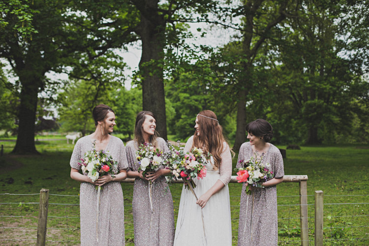 Long Glitter Sequin Bridesmaid Dresses Enchanting Free-Spirited Outdoor Wedding http://www.johnelphinstonestirling.com/