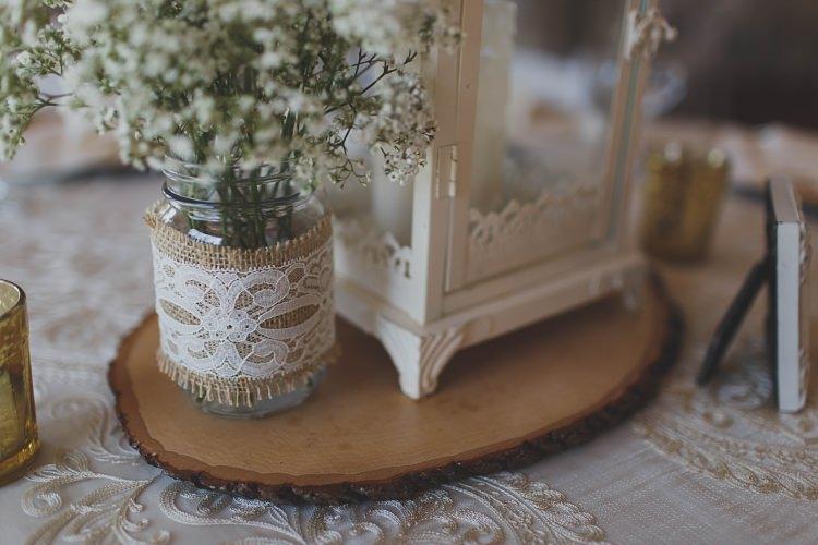 Rustic Lantern Table Decoration Glam Twinkling Ranch Wedding Florida https://www.stacypaulphotography.com/