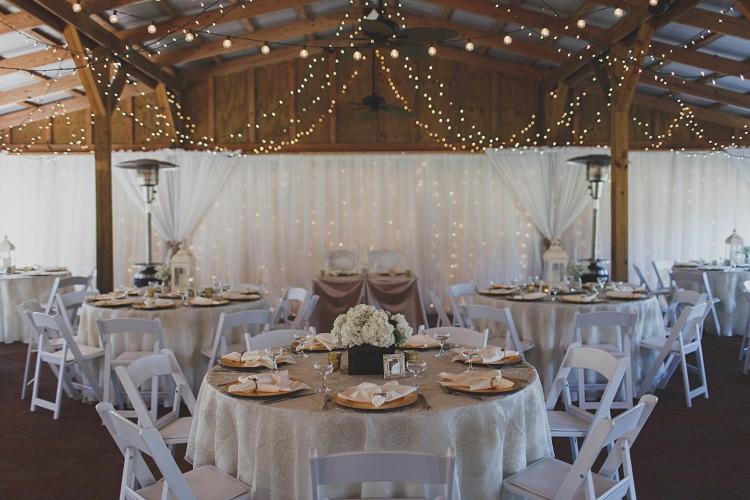Reception Table Decoration Lighting Glam Twinkling Ranch Wedding Florida https://www.stacypaulphotography.com/