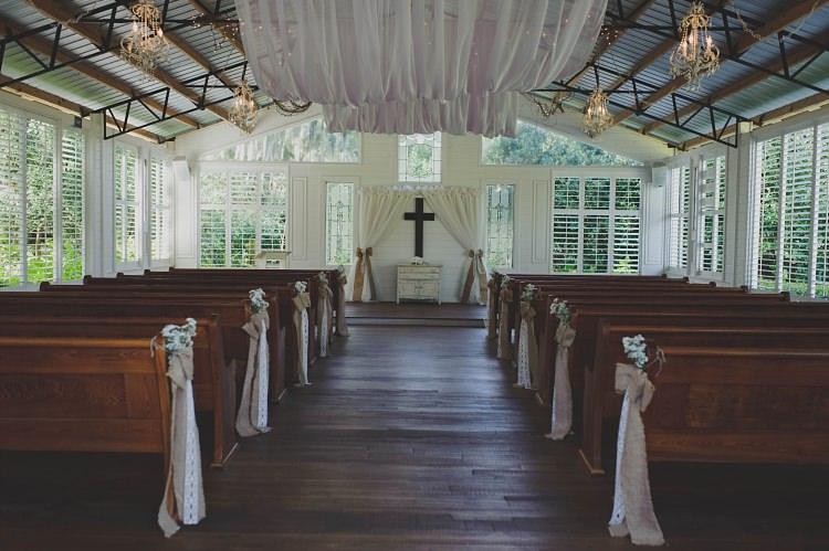 Venue Ceremony Pews Glam Twinkling Ranch Wedding Florida https://www.stacypaulphotography.com/
