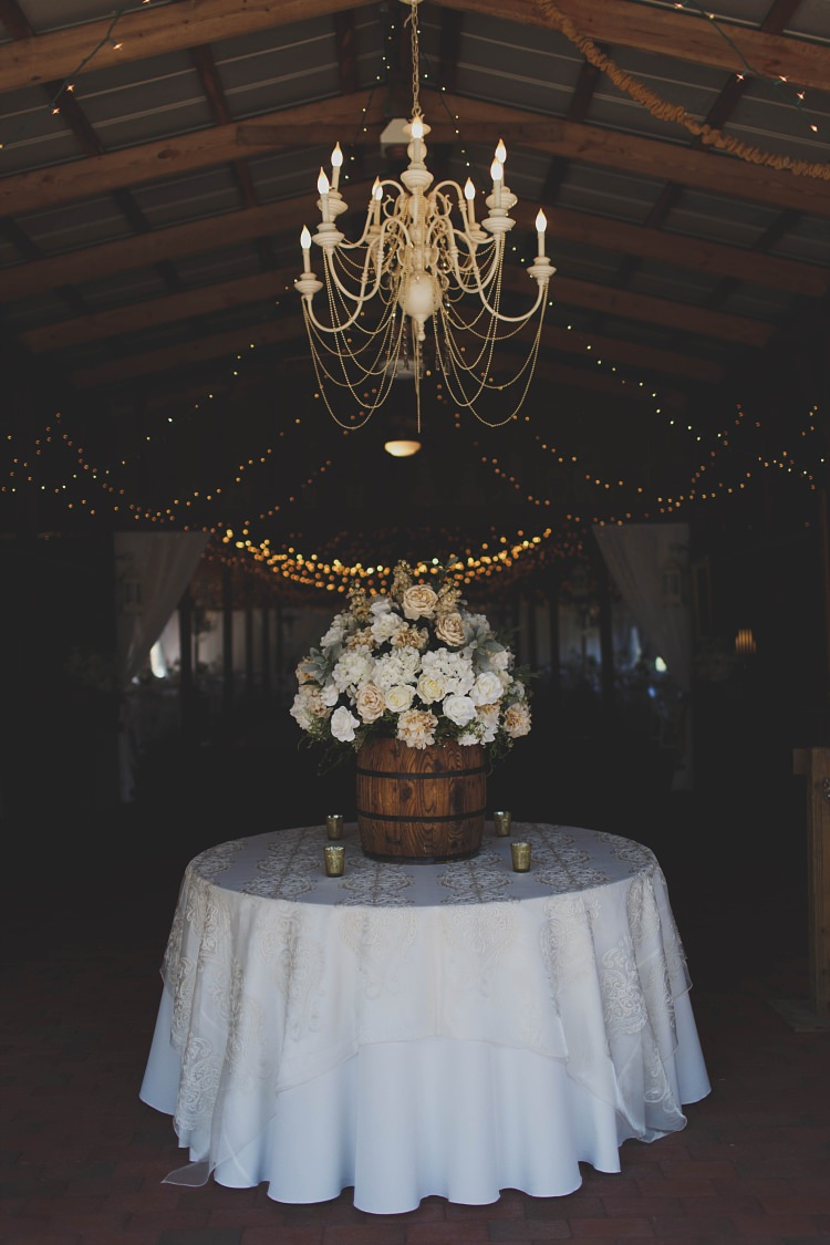 Chandelier Table Glam Twinkling Ranch Wedding Florida https://www.stacypaulphotography.com/