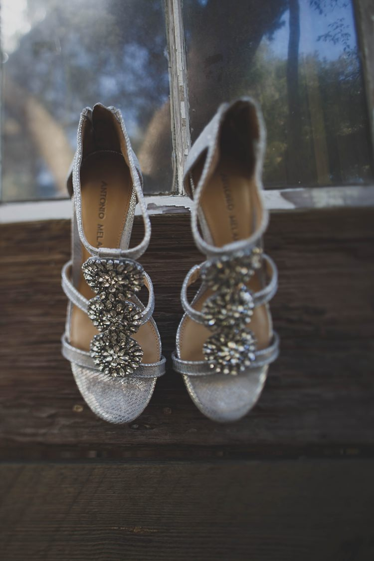 Shoes Silver Vintage Glam Twinkling Ranch Wedding Florida https://www.stacypaulphotography.com/