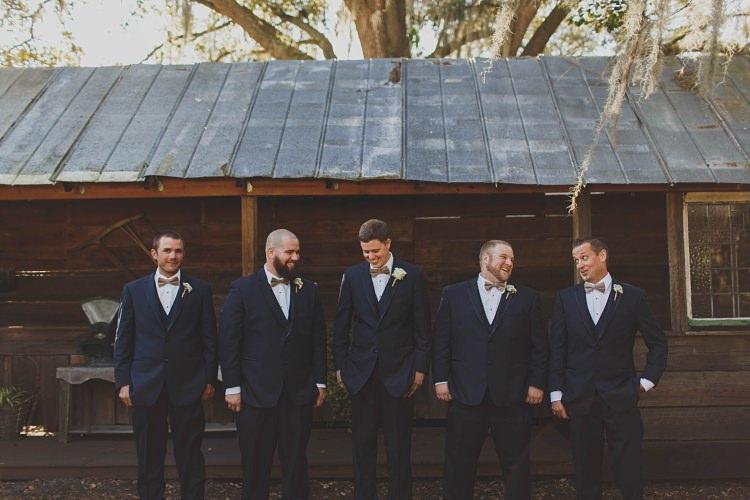 Groomsmen Navy Bow Tie Glam Twinkling Ranch Wedding Florida https://www.stacypaulphotography.com/