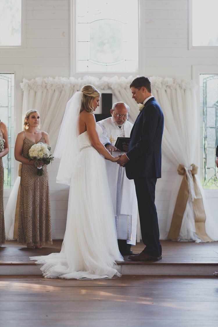 Bride Groom Ceremony Glam Twinkling Ranch Wedding Florida https://www.stacypaulphotography.com/