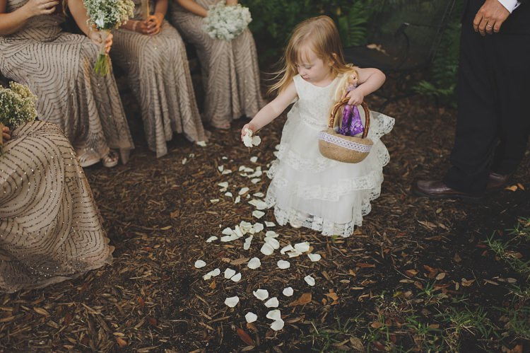 Flower Girl Petals Glam Twinkling Ranch Wedding Florida https://www.stacypaulphotography.com/