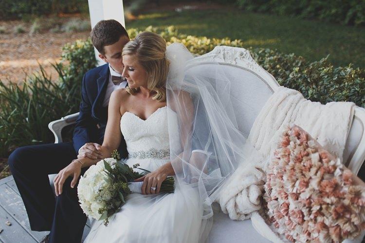 Bride Groom Sitting Sofa Glam Twinkling Ranch Wedding Florida https://www.stacypaulphotography.com/