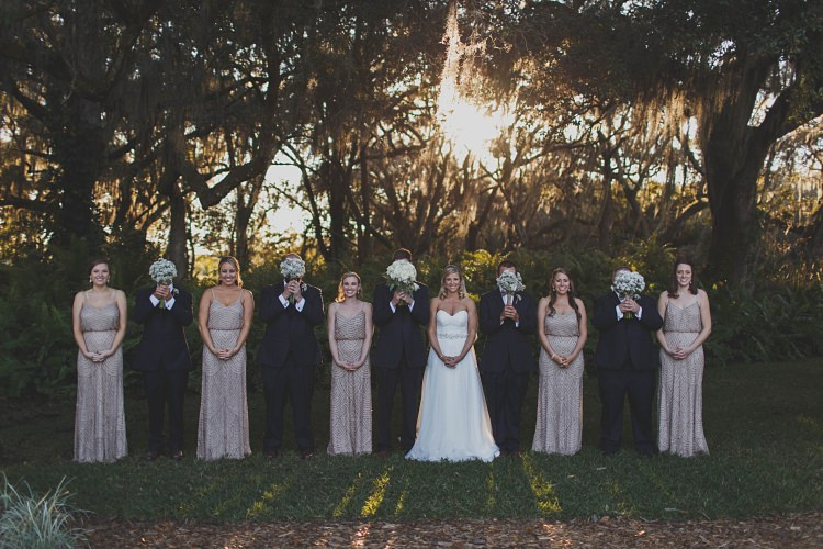 Bridal Party Bow Ties Sequins Glam Twinkling Ranch Wedding Florida https://www.stacypaulphotography.com/